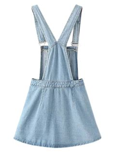 Light Blue Side Button Overall Mini Dress Urban Fashion, Trendy Fashion, Chic Outfits, Fashion Outfits, Mother Daughter Fashion, Denim Overall Dress, Prom Dresses With Sleeves, Looks Chic, Dresses Kids Girl