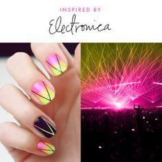 Nail Art : Techno Nights by Chelsea like!