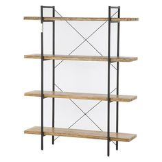 This  Four Tier Shelf Cross Section Industrial Display Unit is practical, sturdy and good value and is a great addition to any interior space.  As it is made from wood and metal and finished in natural grain, it will fit into any interior while the cross section brings an industrial feel which is very on trend…