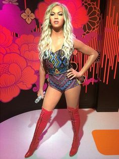 Beyonce Wax Figure In Madame Tussauds In Singapore