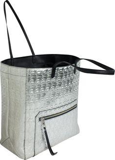 KARL--前鍊袋壓紋Q漫手提長方包
