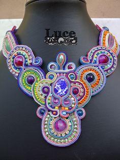 collana soutache (cucita a mano) #luce jewels #collane #soutache per info lucejewels.deborah@gmail.com