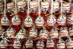 Nautical Anchor Cake Pops