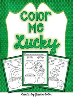 St. Patrick's Day Coloring Sheets- Color Me Lucky