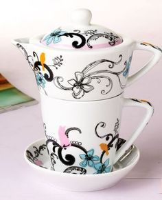 """Me Time"" Teapot & Teacup & Saucer"