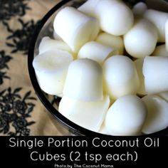 Single Portion Coconut Oil Cubes (2 tsp each)