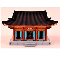 Daeungjeon Temple Wooden Model Construction Kit Woodcraft by YongModeler Korean Crafts, Wooden Model Kits, Traditional Tile, Buddhist Temple, Roof Design, Temples, Wood Crafts, Gazebo, Outdoor Structures