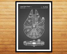 CANVAS Star Wars Millennium Falcon Star Wars Poster