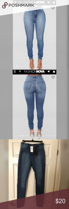 6763ab2dbd7bb Fashion Nova Luxe High Waist Jeans - Medium wash New - Never been worn  Fashion Nova