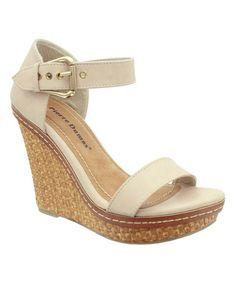 Loving this Nude Fever Platform Sandal on #zulily! #zulilyfinds