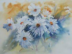 White Flowers - watercolour