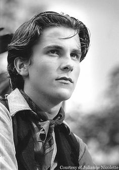 Christian Bale as Jack Kelly in the Newsies. This is when I fell in love with Christian Bale! Christian Bale, Movie Stars, Movie Tv, Cowboy Jack, Jack Kelly, Batman, Star Wars, Movies Showing, Beautiful Boys