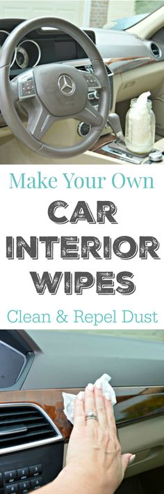 Make Your Own Car Interiors Wipes - Easy to make yourself with just a few household ingredients! via @Mom4Real