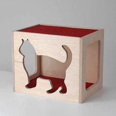 WOODYMAN / Nástenný mačací domček