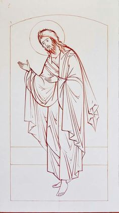Church Banners, Byzantine Icons, Religious Icons, Orthodox Icons, Coloring Book Pages, Concert Posters, Christian Art, Line Drawing, Icon Design