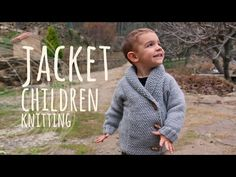 Tutorial Easy Knitting Children Jacket - YouTube