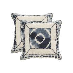 Safavieh Dip-Dye Patch 2-pc. Throw Pillow Set, Blue