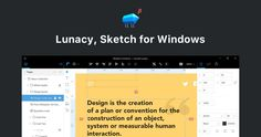 Lunacy, Sketch for Windows : open, edit, and store sketch files