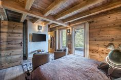 Chambre 1 Simply Home, Log Homes, House Design, Bed Rooms, Architecture, Modern, Snow, Country, Home Decor