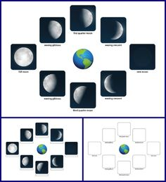 Phases of the Moon worksheet || Gift of Curiosity