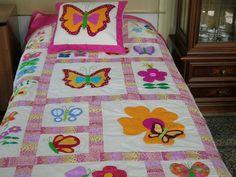 tendido de mariposas | trabajos en patchwork | Pinterest