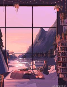 There are moments in my endless hours of browsing the web, digging for my next rabbit hole, when I stop and find something a little bit magical– something that opens that door to Narnia that I'… Aesthetic Anime, Aesthetic Art, Pretty Art, Cute Art, Narnia, Bel Art, Anime Scenery, Album Design, Aesthetic Wallpapers