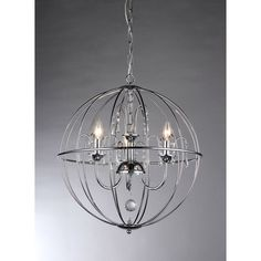 Add some elegance to your home with this stylish and unique Cage crystal chandelier. This dynamic lighting element features generous rows of cascading crystals to catch the light for an impressive display of illumination.