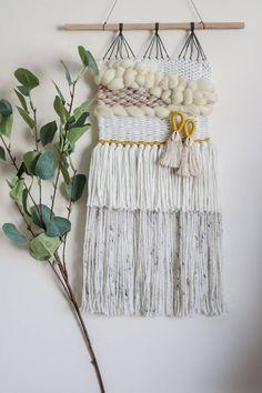 Woven Wall Hanging, Wall Hangings, Plant Hanger, Dream Catcher, Gallery Wall, Bohemian, Interiors, Wool, Handmade