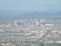 Phoenix, AZ - overlooking phoenix on top of South Mountain. 2010