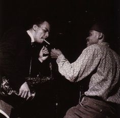 Jackie McLean with Tommy Turrentine during the recording of McLean's A Fickle Sonance session, Englewood Cliffs NJ, October 26 1961 (photo by Francis Wolff) Jackie Mclean, Francis Wolff, Jazz Lounge, Sax Man, Hard Bop, Charles Mingus, Duke Ellington, Cool Jazz, All That Jazz