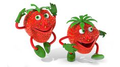 3D Strawberries Background Downloads Free