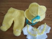 says for newborn, and uses worsted weight.  Using sport, dk, or baby yarn and smaller hook should make it a nice size for preemie