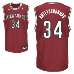 adidas Milwaukee Bucks Custom Replica Alternate Jersey df1a8ae0e