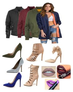 """Untitled #229"" by xoxo-maneshass on Polyvore featuring WearAll, Charlotte Russe, Gianvito Rossi, Delicious, Liliana and Fiebiger"