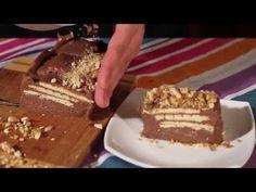 ▶ Chec rece cu biscuiti si ciocolata - Retete prajituri (100 de secrete dulci - Unirea) - YouTube