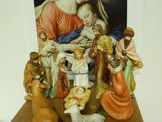 Vintage nativity set / nativity scene / Jesus by cgraceandcompany