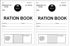 World War 2 Ration Book Template.... I found one of these in one of ...