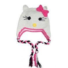 Gorro crochet  de Hello Kitty. 100% Algodón. ¡Envío gratis!