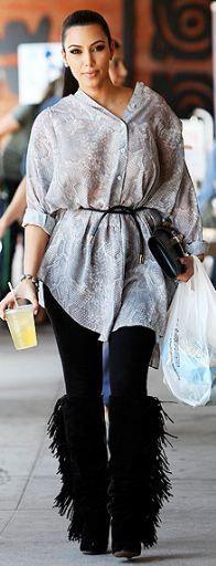 Kim Kardashian. Her boots!!!