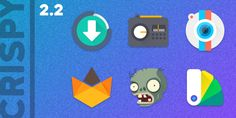 Crispy – Icon Pack v2.2Requirements: 4.0.3+Overview: CRISPY CRISPY. UNIQUE. VIBRANT.   	  	FEATURES 	– Extremely high quality icons [more to come] 	– Icons at 192×192 	– Cloud based HD wallpapers. 	– Dashboard for easy use. 	– Dynamic Calendar...