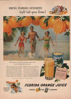 Florida Orange Juice Fresh or Canned (1949)
