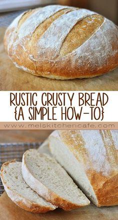 Easy Rustic Crusty Bread - Food Favorie