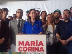María Corina acudirá el próximo miércoles 3 de diciembre a la Fiscalía 20 Para la líder de Vente Venezuela, la imputación del delito..