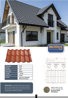 Steel roof system #MODUS  - 30 years guarantee - Environmental friendly  - 100% recyclable - 6x lighter than traditional tiles - easy to assemble