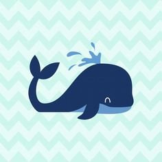 Baleia Dorm Posters, Baby Posters, Image Deco, Baby Hamper, Whale Art, Baby Clip Art, Dibujos Cute, Safari Theme, Illustration