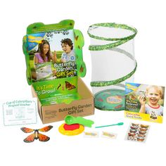 Insect Lore Butterfly Garden Kit Grow Farm House Catcher Hatching Caterpillars