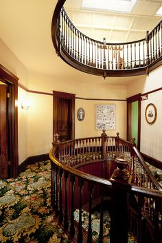 Kellogg House Stairwell: Designed and built by Hiram Clay Kellogg, inspired by his love of ships.  Heritage Museum of Orange County - Photo by Pablo Serrano Images