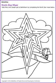 North Star Maze (Christmas Activity) - Kids Korner - BibleWise