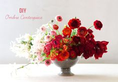 pretty ombre floral centerpiece for your home!