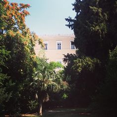 In the shade of Greek parliament! #Athens #Syntagma Photo credits: @melinalegaki